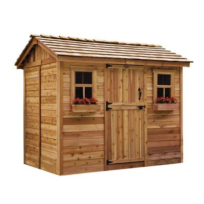 Cabana 6 ft. x 9 ft. Western Red Cedar Garden Shed Product Photo