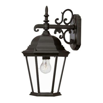 Richmond Collection 1-Light Matte Black Outdoor Wall-Mount Light Fixture Product Photo