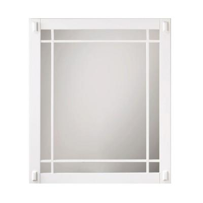 Home Decorators Collection Artisan 30 in. L x 25-1/2 in. W Framed Wall Mirror in White