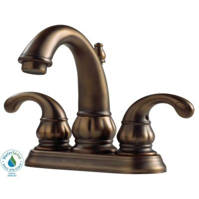 Pfister Treviso 4 in. 2-Handle High-Arc Bathroom Faucet in Velvet Aged Bronze-DISCONTINUED