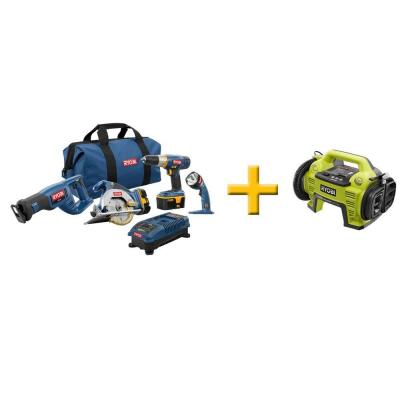 Ryobi 18-Volt ONE+ Super Combo with Free ONE+ Inflator