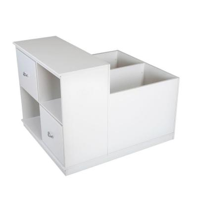Mobby 35.5 in. x 31.20 in. Pure White 4-Cube Mobile Organizer Product Photo