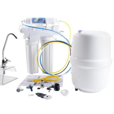 4-Stage Reverse Osmosis Water Filtration System - 50 GPD