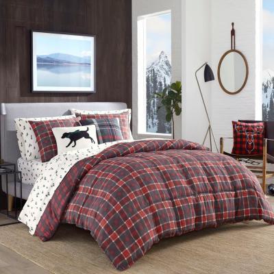 Timber Tartan Red Plaid Comforter Set