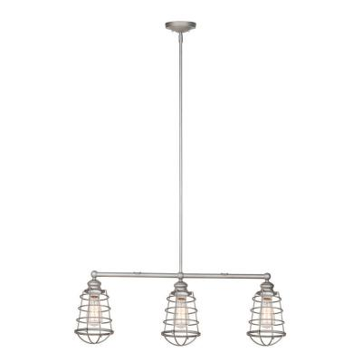 Ajax Collection 3-Light Galvanized Indoor Pendant Product Photo