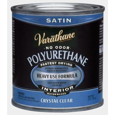 1/2 pt. Clear Satin Water-Based Interior Polyurethane
