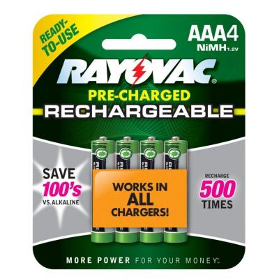 Rayovac Nickel Metal Hydride AAA Rechargeable Battery (4-Pack)