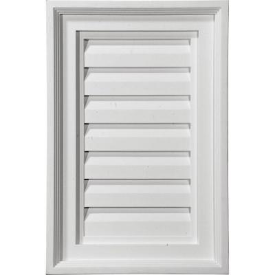 2 in. x 12 in. x 24 in. Decorative Vertical Gable Louver Vent Product Photo
