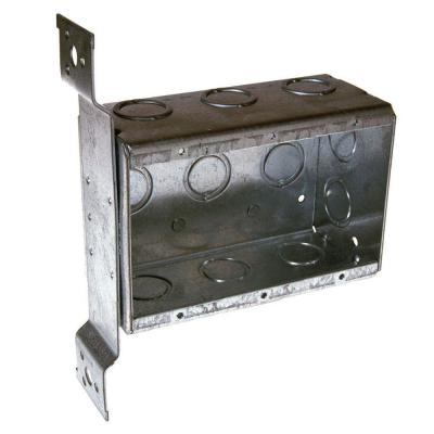 Three-Gang Welded Switch Box, 2-1/2 in. Deep with FM Bracket and 1/2 and 3/4 in. Concentric KO's (10-Pack) Product Photo