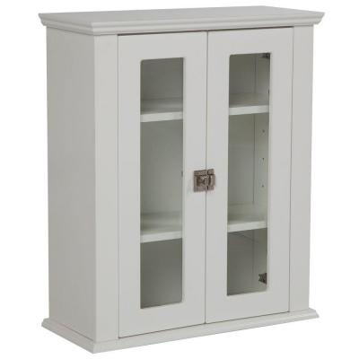 Home Decorators Collection Lamport 22 in. W Surface-Mount Over John Storage Cabinet in White Mist