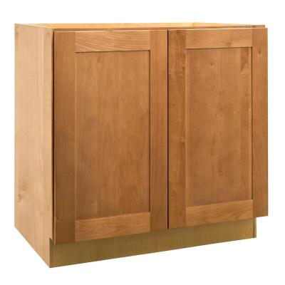 24x34.5x24 in. Hargrove Assembled Base Cabinet with Double Full Height Doors