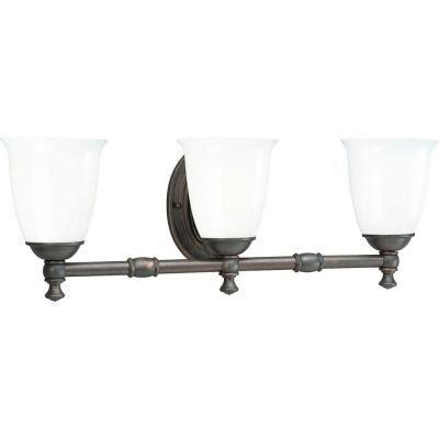 Progress Lighting Victorian Collection Venetian Bronze 3-light Vanity Fixture P3029-74