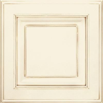 Thomasville 14.5x14.5 in. Cabinet Door Sample in Villa Cotton with Toasted Almond