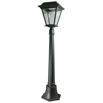 XEPA Stay On Whole Night 300 Lumen 42 In Outdoor Black Solar LED Lamp Post S