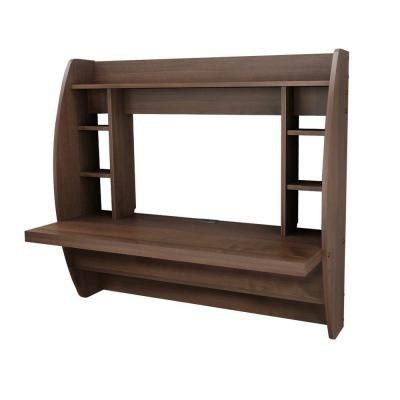 Floating Storage Desk in Espresso Product Photo