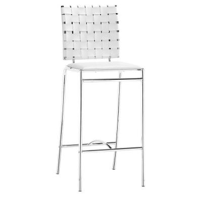 ZUO Criss Cross White Counter Stool (Set of 2)