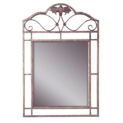 Hillsdale Furniture Bordeaux 42.25 in. x 28 in. Metal Framed Mirror-DISCONTINUED