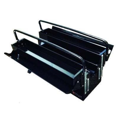 Excel 19.5 in. W x 7.9 in. D x 11.4 in. H Cantilever Portable Steel Tool Box, Black