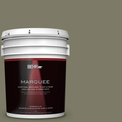 BEHR MARQUEE 5-gal. #QE-37 Knotweed Flat Exterior Paint