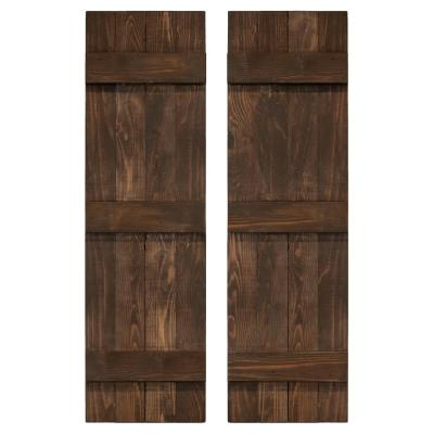 Board and Batten Traditional Shutters Pair
