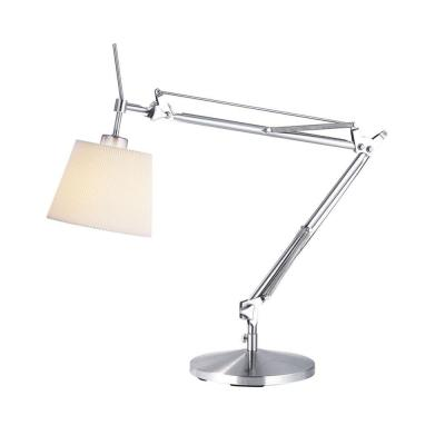 Adesso 33 in. Satin Steel Architect Lamp