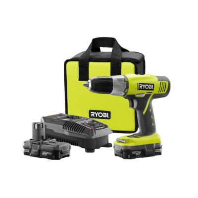 Ryobi ONE+ 18-Volt 1/2 in. Cordless Lithium-Ion Drill/Driver Kit with 2 Battery