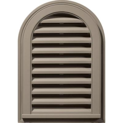 Builders Edge 14 in. x 22 in. Round Top Gable Vent #097 Clay