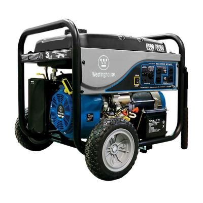 Westinghouse 6,500-Watt Gasoline Powered Electric Start Portable Generator with Battery