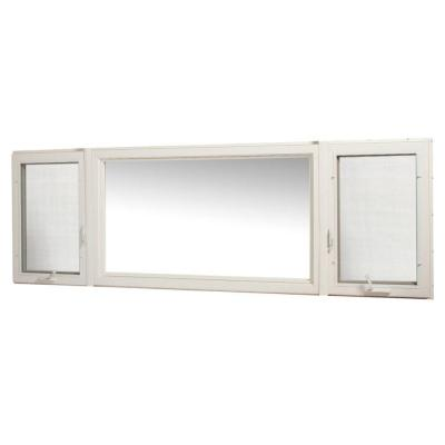 TAFCO WINDOWS 107 in. x 36 in. Vinyl Casement Window with Screen - White