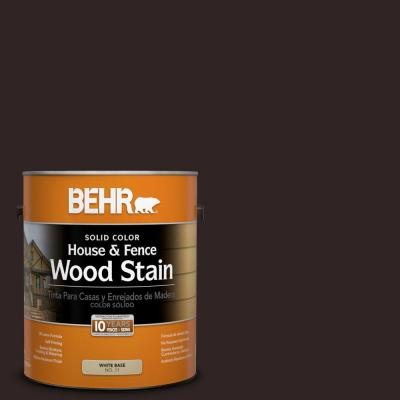 1-gal. #SC-104 Cordovan Brown Solid Color House and Fence Wood Stain