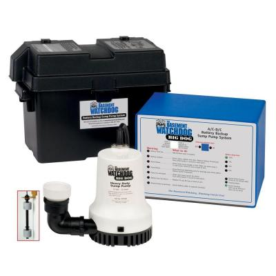 Big Dog Computer-Controlled AC/DC Battery Backup Sump Pump System Product Photo