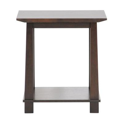 Havana Wood Brown Modern End Table Product Photo