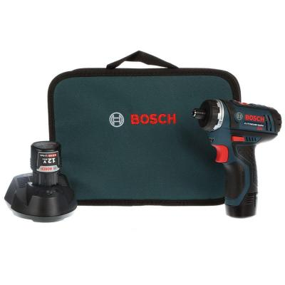 Bosch 12-Volt MAX Lithium-Ion 1.4 in. Hex Cordless 2-Speed Pocket Driver Kit with (2) 2Ah Battery