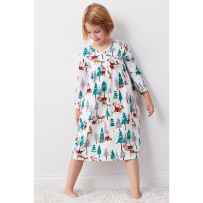 Family Flannel Girl's Santa Nightgown