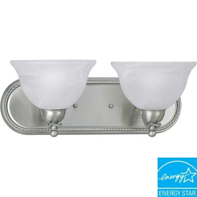 Progress Lighting Avalon Collection Brushed Nickel 2-light Fluorescent Vanity Fixture P3154-09EBWB