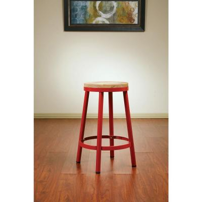 Work Smart Bristow 26.25 in. Red Bar Stool