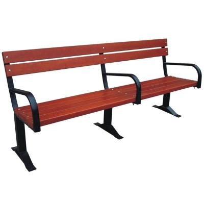Parkland Heritage Commercial Patio Bench with Back and Arm Rests