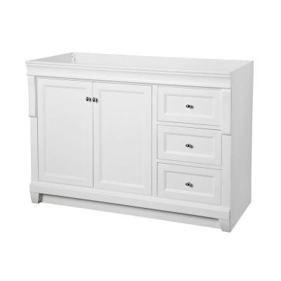 Foremost Naples 48 in. W x 21-5/8 in. D x 34 in. H Vanity Cabinet Only in White