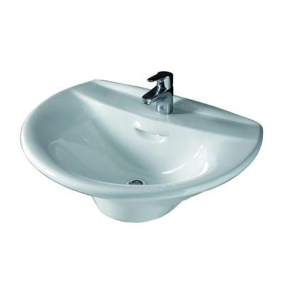 Venice 650 Wall-Hung Bathroom Sink in White Product Photo