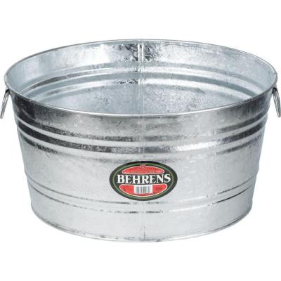 15 Gal. Hot Dipped Steel Round Tub