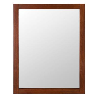 Townsville 24 in. W x 30 in. H Framed Wall Mirror in Walnut Product Photo