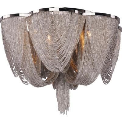 Chantilly 6-Light Polished Nickel Flush Mount