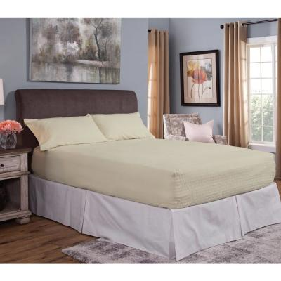 Bed Tite Solid 150-Thread Count Flannel Sheet Set