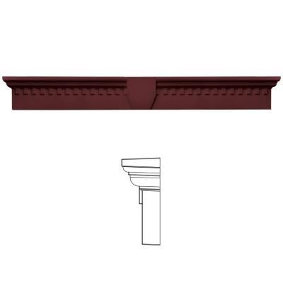 Builders Edge 9 in. x 73 5/8 in. Classic Dentil Window Header with Keystone in 078 Wineberry