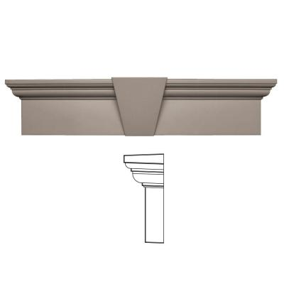 9 in. x 37-5/8 in. Flat Panel Window Header with Keystone in 008 Clay Product Photo