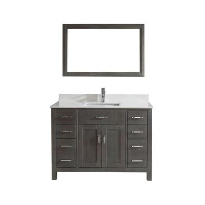 Kalize 48 in. Vanity in French Gray with Solid Surface Marble