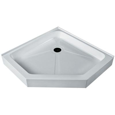 40 in. x 40 in. Neo-Angle Shower Tray in White