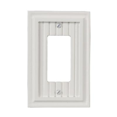 Amerelle Cottage 1 Decora Wall Plate - White