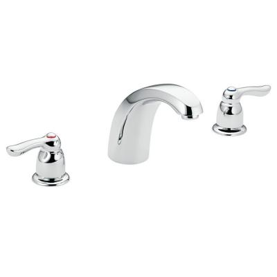 MOEN Chateau 2 Handle Low Arc Roman Tub Trim In Chrome Valve Sold Separately
