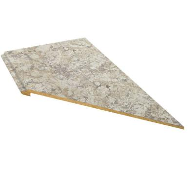 Valencia 120 in. Single Roll Right Miter Laminate Countertop in Spring Carnival Product Photo